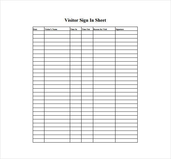 Event Sign In Sheet Template | Example Sign In Sheet April Mydearest Co