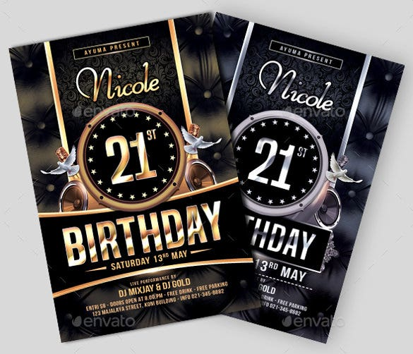 26 birthday flyer templates sample example format download 21st birthday flyer template download maxwellsz