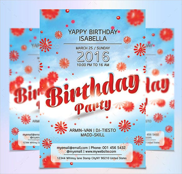 21 Birthday Flyer Templates Free Sample Example Format – Sample Flyer Templates