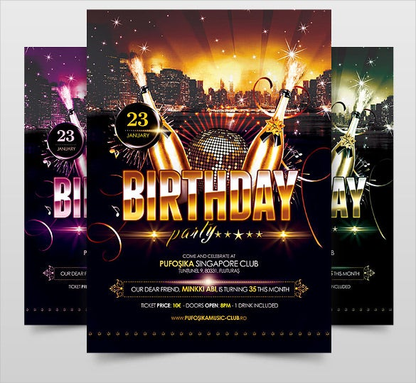 21+ Birthday Flyer Templates – Free Sample, Example, Format