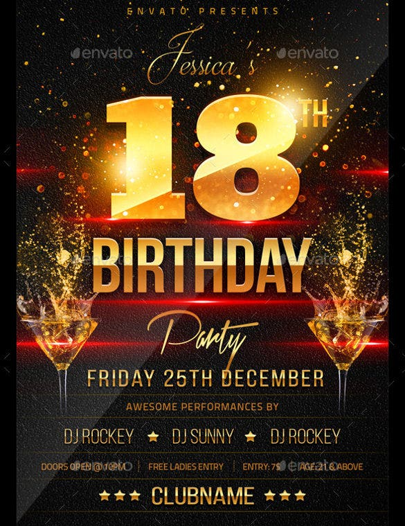 18th Birthday Flyer Template