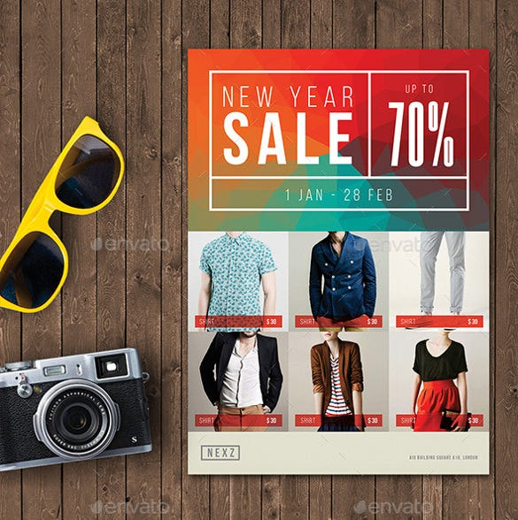 colorful sale flyer