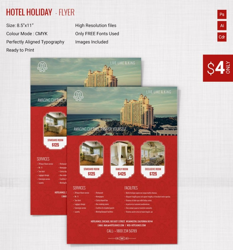 Holiday Brochure Templates  Free Psd Eps Ai Indesign Word