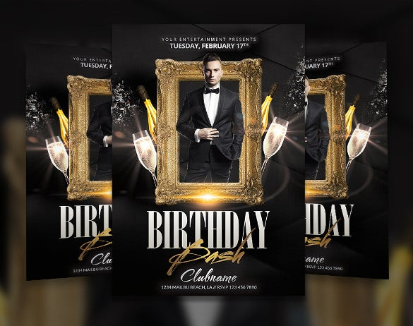 Beautiful Birthday Bash Flyer Template