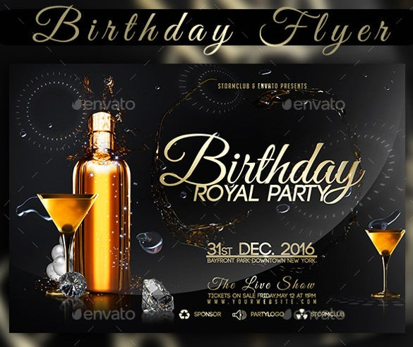 26 birthday flyer templates sample example format download