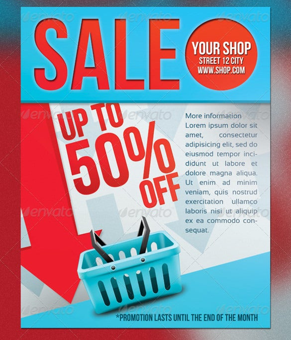sale flyer psd print template