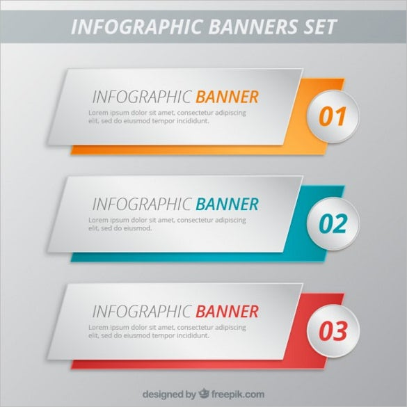 the infographic banner set template is a simple and stylish free banner template which looks excellent and will be perfectly used to advertise infomercials