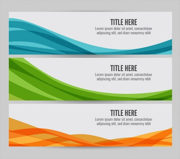 colorful wave web banner template