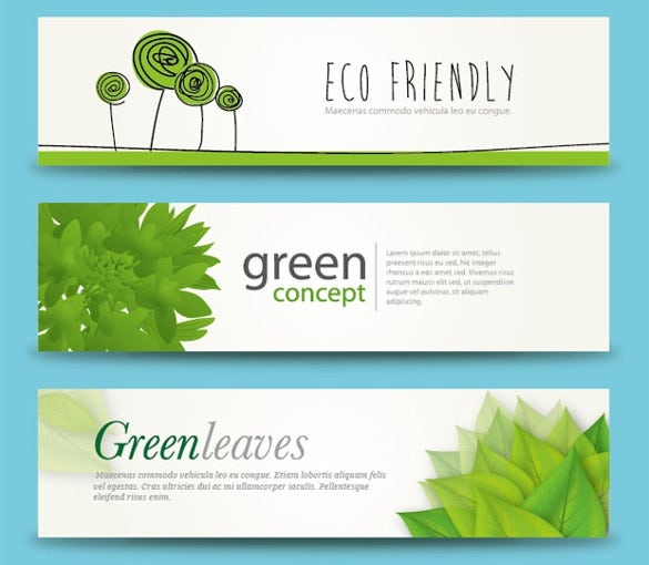 eco friendly free banner template