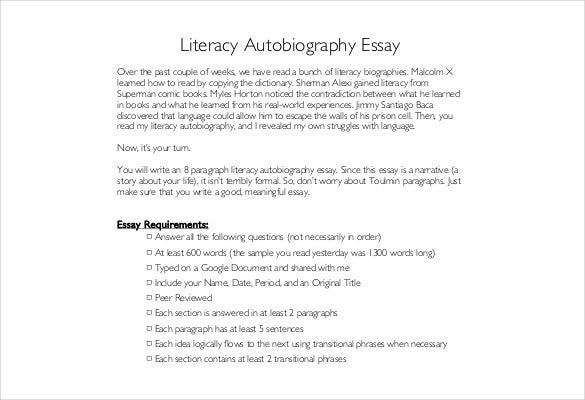 autobiography outline word pdf documents  literacy autobiography outline pdf template