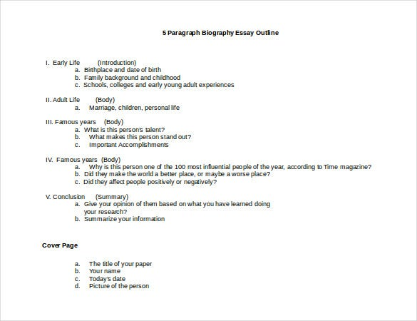 memoir outline template - essay autobiography example