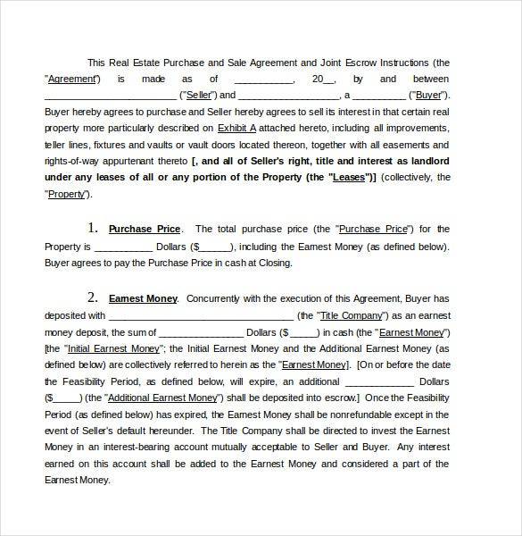 Buy Sale Agreement Template   Free Word  Document Download