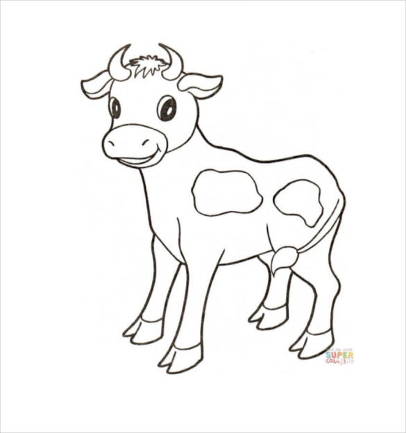 baby cow animal template download