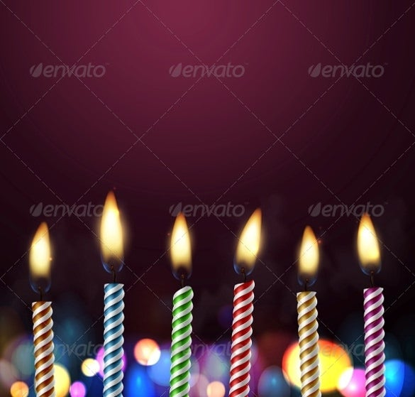birthday background template with candles