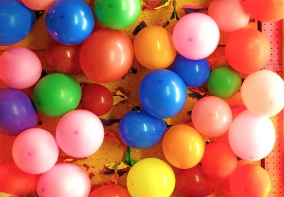 balloons background template for birthday