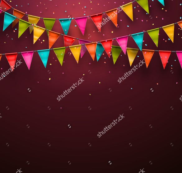 simple birthday background template