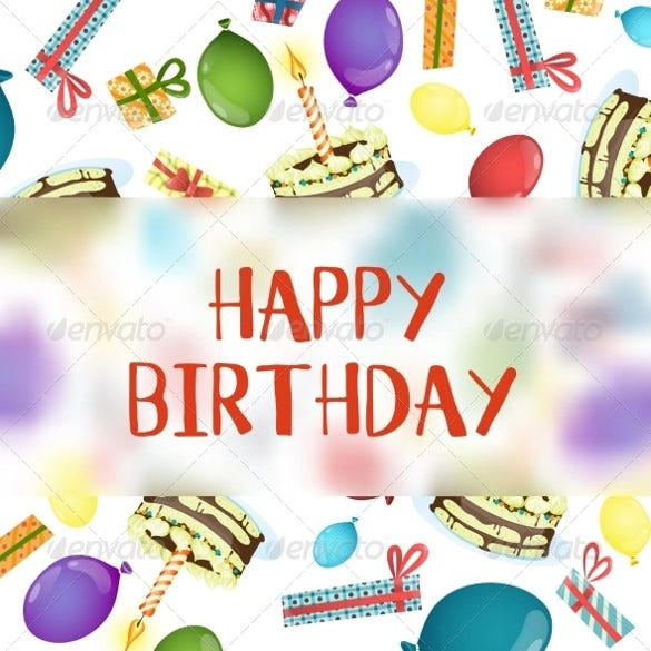birthday background template easy download