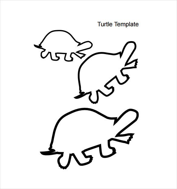 baby animal turtle template pdf download