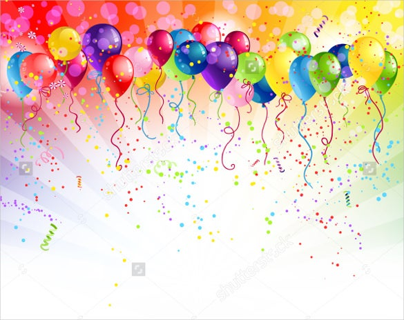 multicolor birthday background template