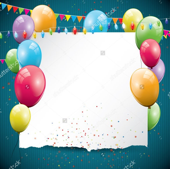 colorful birthday background with balloonsplace for text