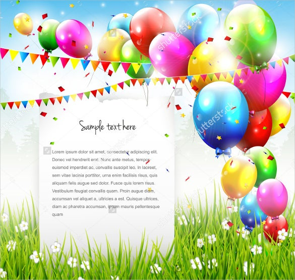 natural birthday background template