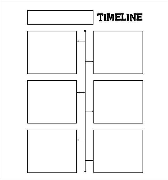 Blank Timeline Template Free PSD Word POT PDF Documents - Timeline templates for word