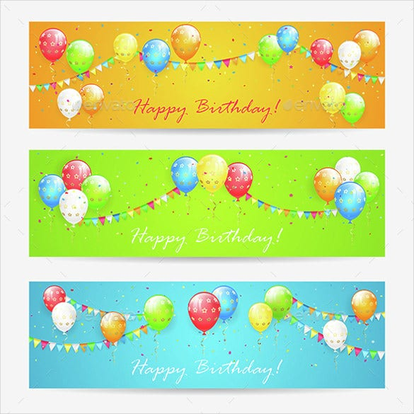 star birthday banner template