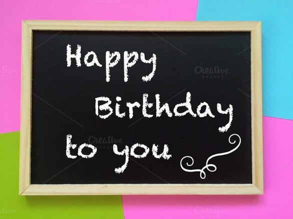 blackboard birtday banner template