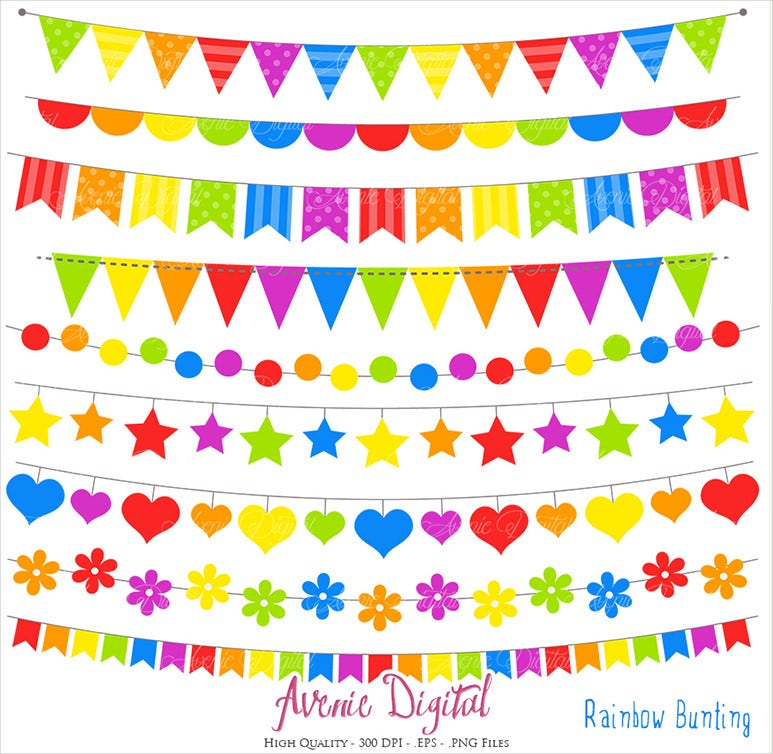 rainbow birthday banner template