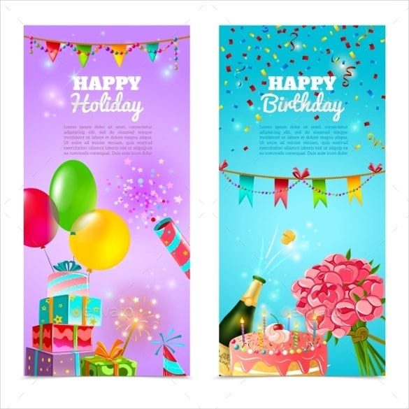 fun birthday banner template