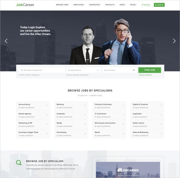 job board responsive wordpress theme