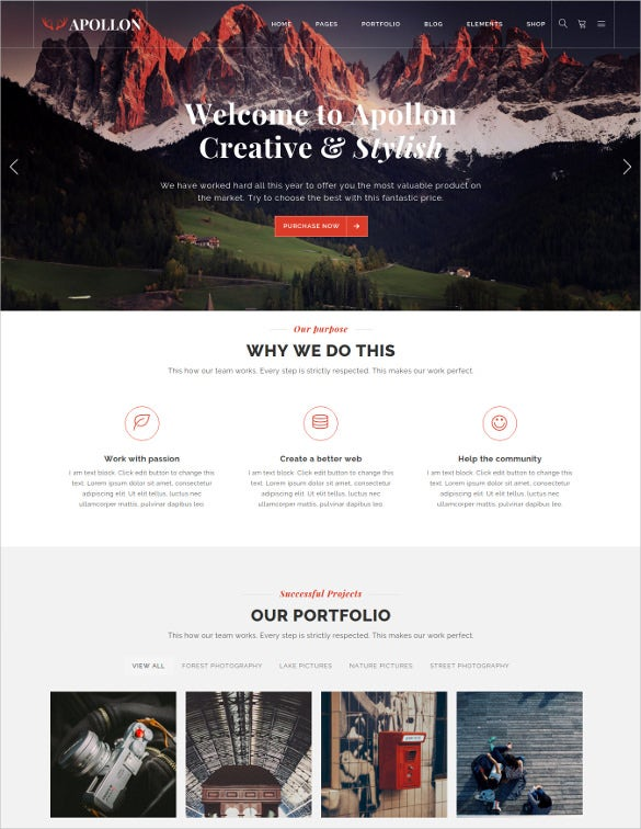 apollon creative multiuse wordpress theme