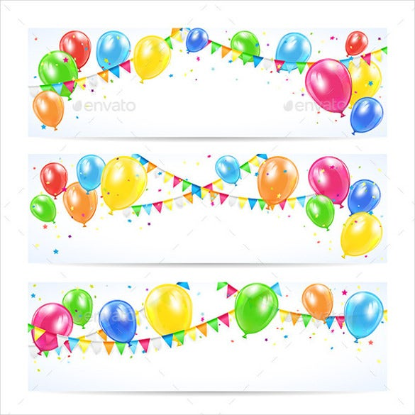 multi colored birthday banner template
