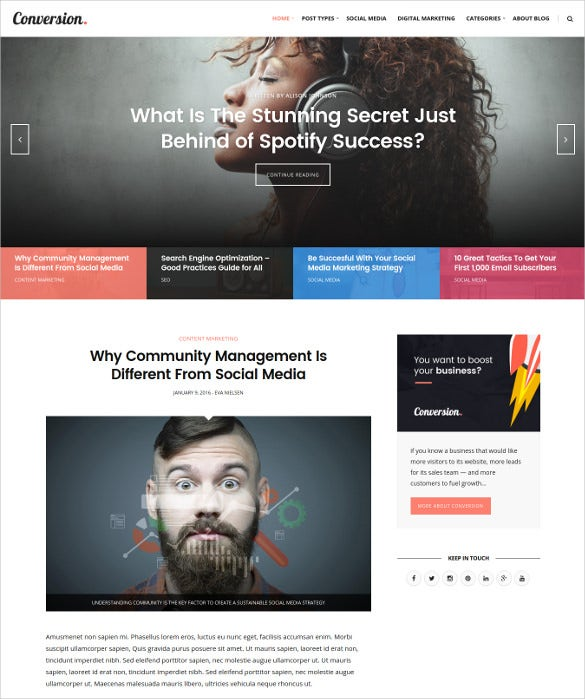 ultimate conversion digital marketing magazine blog wordpress theme