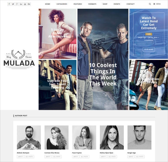 mulada multi purpose blog wordpress theme