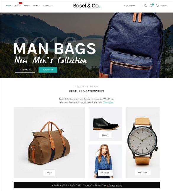 basel responsive ecommerce wordpress theme