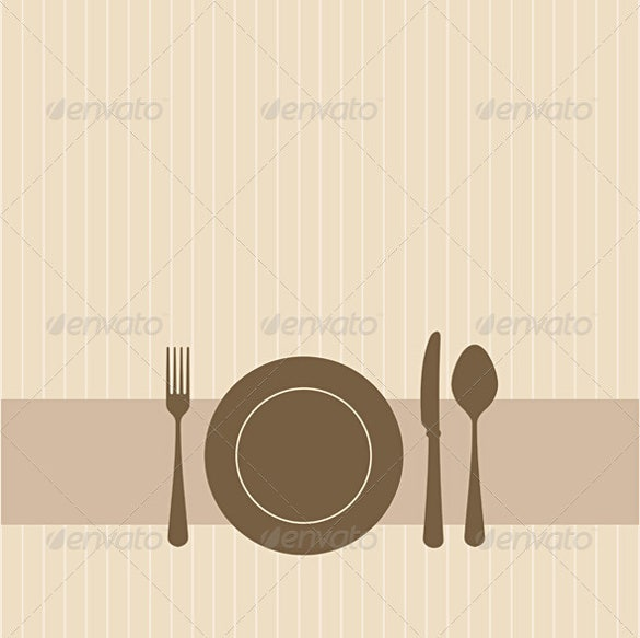 lunch invitation in brown