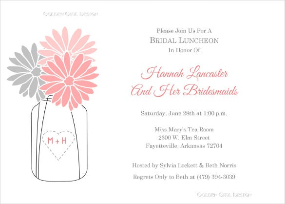 bridesmaid lunch invitation