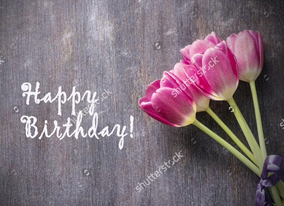 professional birthday postcard template