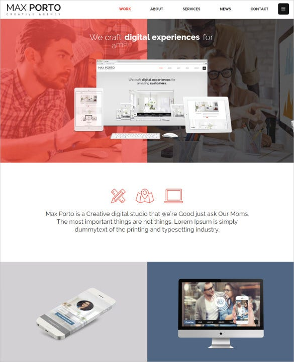 max porto the minimal studios agency wordpress theme