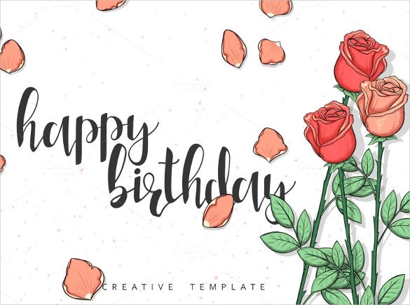 hand made birthday postcard template