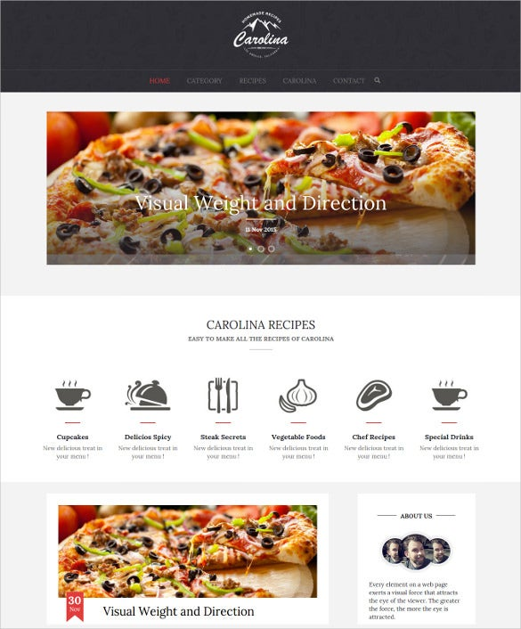 carolina homemade recipes wordpress theme