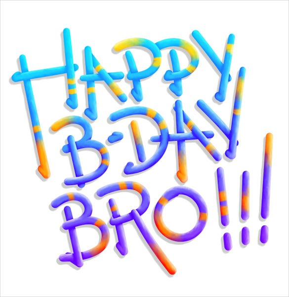 birthday postcard template for brother