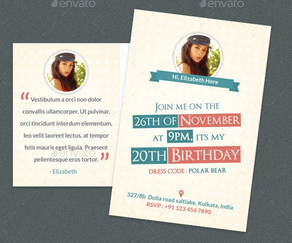 birthday postcard template with image