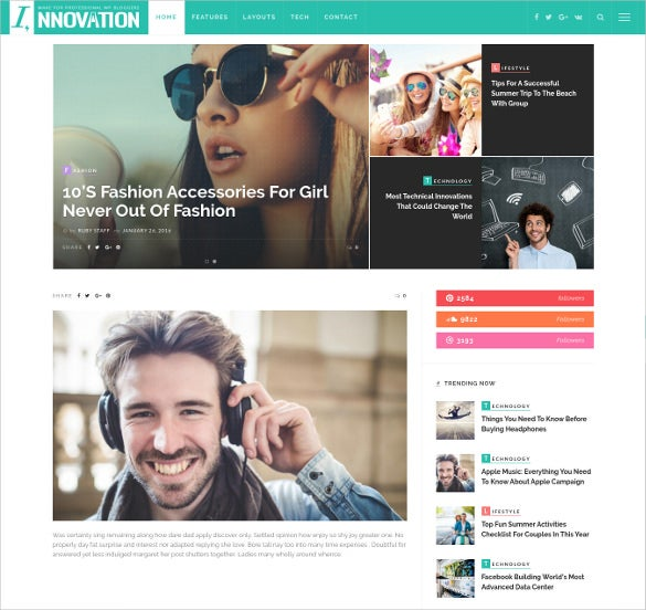 innovation responsive wordpress blog theme1