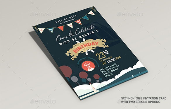 two page birthday post card template