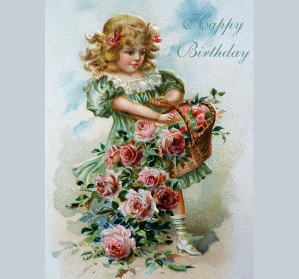hand drawn birthday postcard template