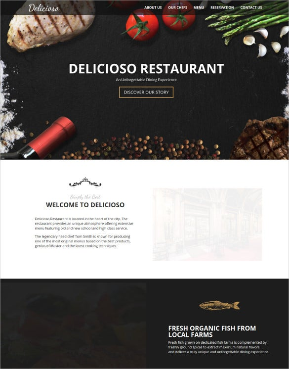 delicioso restaurant wordpress theme
