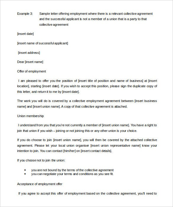 download member of a union appointment letter template