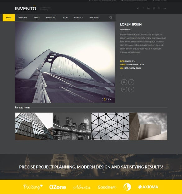 architecture building agency joomla blog template
